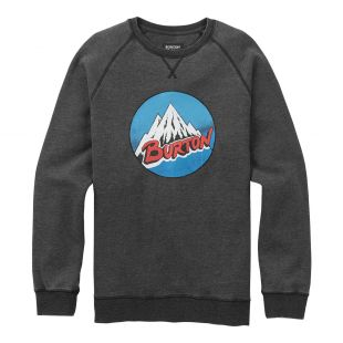 Ethic купить Толстовка Burton Retro Mountain Crew true black