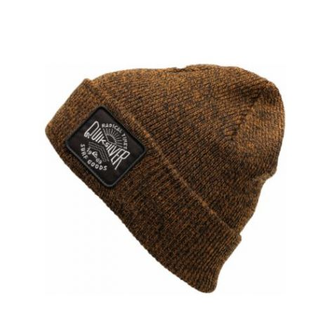 Шапка Quiksilver Performed Patch Beanie (bone brown)