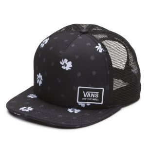 Кепка Vans Beach Bound Trucker black abstract daisy