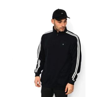 Толстовка Brixton B Shield 1/2 Zip (black/cream)