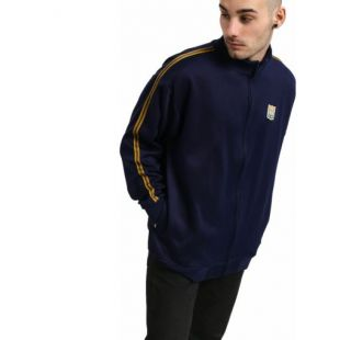 Толстовка Brixton United Mock Neck Zip (patriot blue)