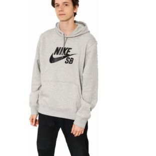 Толстовка Nike SB Icon HD (dk grey heather/black)