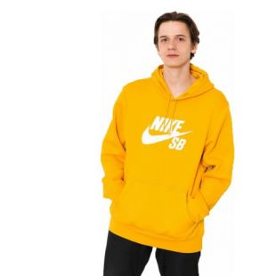 Толстовка Nike SB Icon HD (yellow ochre/white)