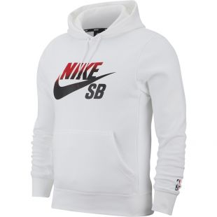 Толстовка Nike SB Icon Nba HD (white/university red)