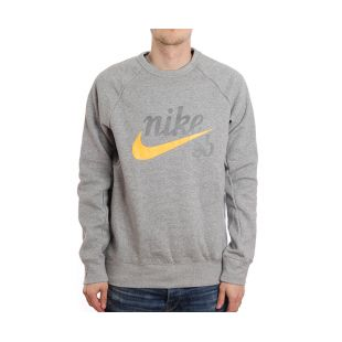 Толстовка Nike SB Sb Top Icon Crw Gfx Hrtg (dk grey heather)