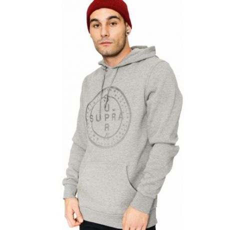 Толстовка Supra Cross Seal HD (grey heather)