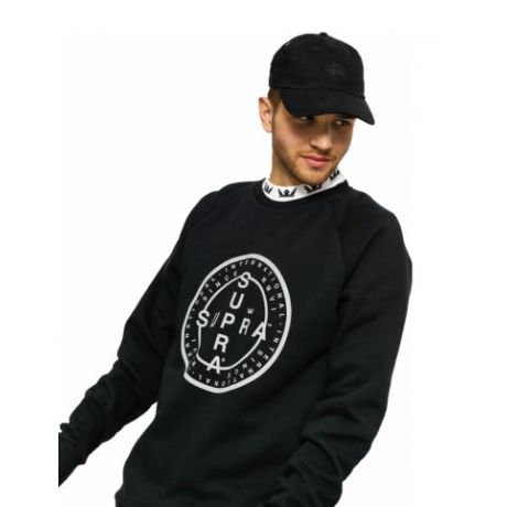 Толстовка Supra Cross Seal Crew (black)