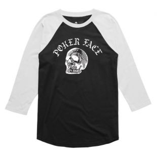 Футболка Emerica Poker Face Raglan (white/black)