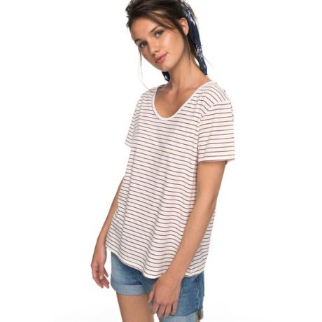 Футболка Roxy Just Simple Stripe Wmn (tandoori spice)