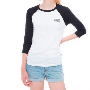 Футболка Vans Full Patch Raglan Wmn (white black)