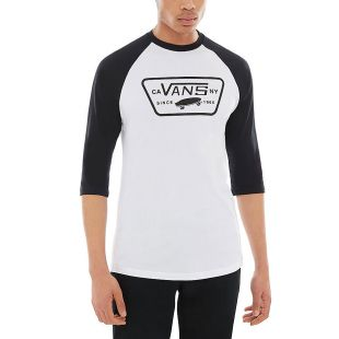 Футболка Vans Full Patch Raglan white/black