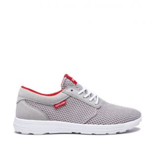 Кеды Supra Hammer Run (lt grey/risk red white)