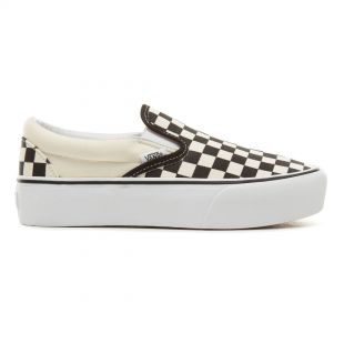 Кеды Vans Classic Slip-On Platform black & white