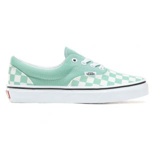 Кеды Vans Era checkerboard neptune green/white