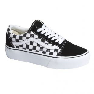 Кеды Vans Old Skool Platform checkerboard black/true white