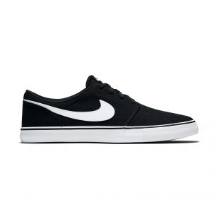 Кеды Nike SB Solarsoft Portmore II Canvas (black/white)
