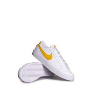 Кеды Nike SB Blazer Low (white/mineral gold)