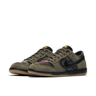 Кеды Nike SB Dunk Low Pro (medium olive/black gum light brown)