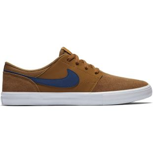 Кеды Nike SB Solarsoft Portmore II (lt british tan/blue void)