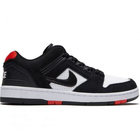 Кеды Nike SB Air Force II Low (black/black white habanero red)