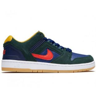 Кеды Nike SB Air Force II Low (midnight green/habanero red blue void)