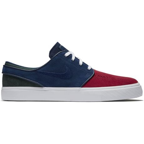 Кеды Nike SB Zoom Stefan Janoski (red crush/blue void white midnight green)