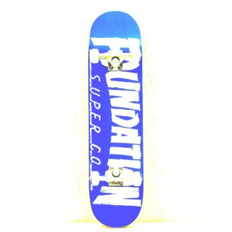 Скейтборд Foundation Thrasher (blue/white)