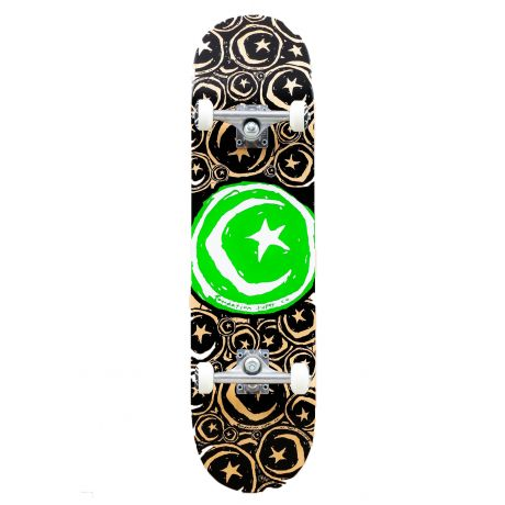 Скейтборд Foundation Star And Moon (stickered green)