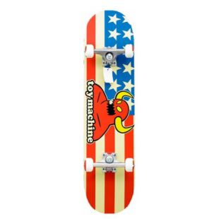 Скейтборд Toy Machine American Monster (white/red/blue)