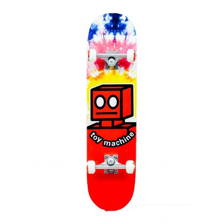 Скейтборд Toy Machine Robot Tie Dye (red/tie dye)