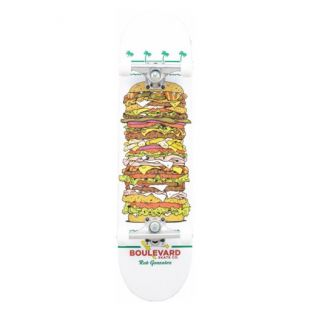 Скейтборд Boulevard Burger Rob Gonzales (white/multi)