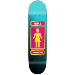 Girl Skateboard Deck Howard 93 (black/teal)