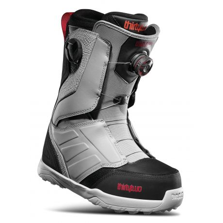 Mens ThirtyTwo Snowboard boots Lashed Double Boa (grey/black/red)