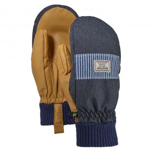 Burton Dam Mitt denim/open road stripe