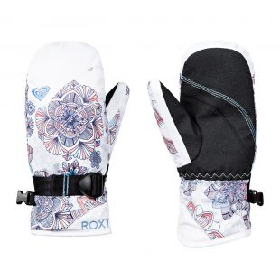 Roxy Jetty Girl Mitt bright white/snowflakes