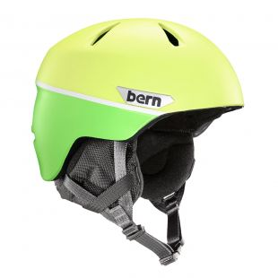 Шлем Bern Weston Jr matte hyper green split 2018/2019