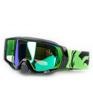 Маска Dragon Cross Goggles Vandetta(green black split/green ion)