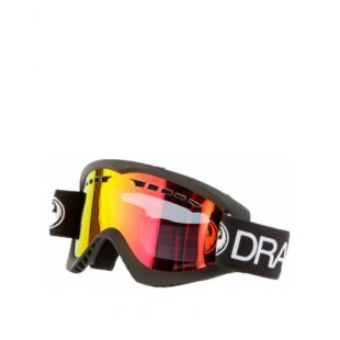 Маска Dragon Goggles DXS (black/lumalens red ion)
