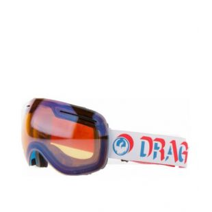 Маска Dragon Goggles X1 (verge/lumalens flash blue/dark smoke)