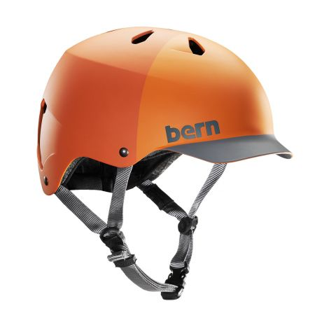 Шлем Bern Watts H2O matte orange hatstyle