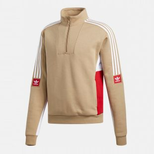 Толстовка Adidas Modular Flc 2 (hemp/white/power red)