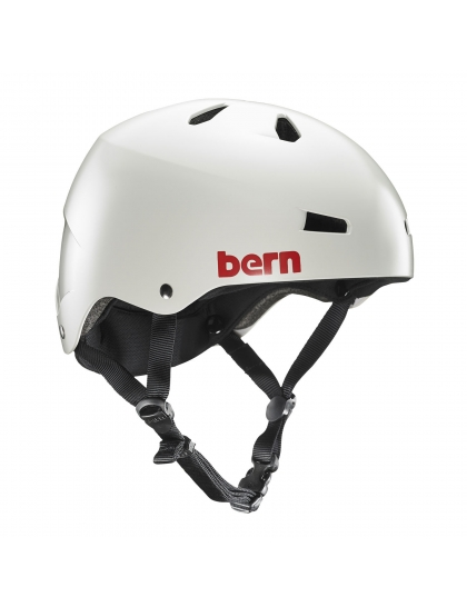 Шлем Bern Macon Team satin light grey