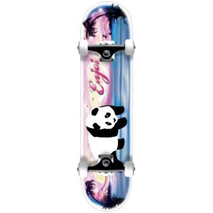 Скейтборд Enjoi Tropical Airbrush Panda (white/pink/blue)