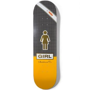 Girl Skateboard Deck Malto Cubano (black white/yellow)