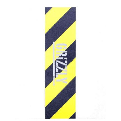Grizzly Griptape Hazard Stamp Griptape Grip (yellow)