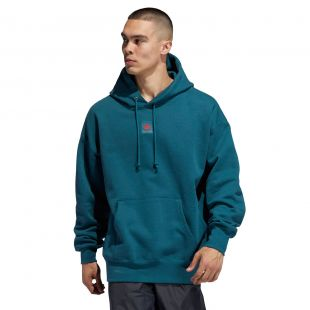 Толстовка Adidas Team Hoodie viridian/power red