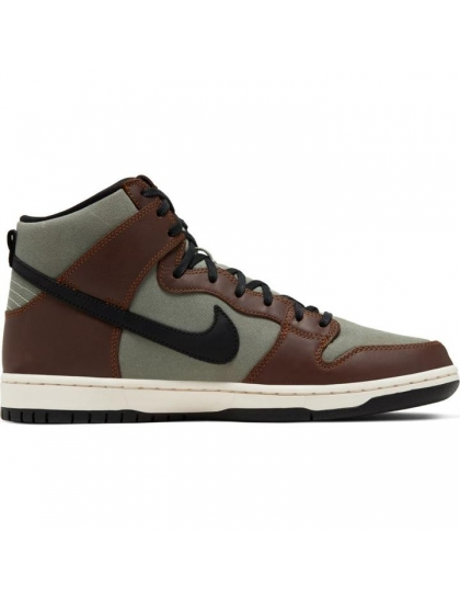 Кеды Nike SB Dunk High Pro (baroque brown/black jade horizon)