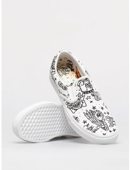 Кеды Vans Classic Slip On (u color tattoo/true white)