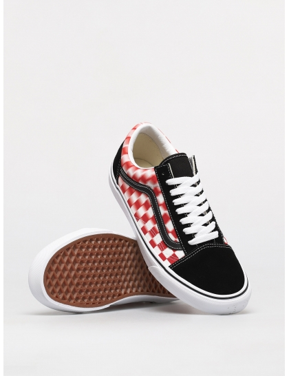 Кеды Vans Old Skool (blur check/true wht/red)