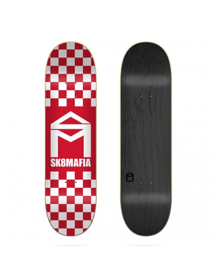 Sk8Mafia Deck Checker red 8.25